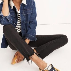 Madewell Cali Demi Boot Berkeley Black Chewed Hem
